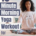 Do this quick 10 minute yoga routine every morning to set you up for an amazing day. 10 minute beginners morning yoga workout.