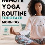 A 10 minute morning yoga routine for beginners to try in the morning to start your day on a high. 10 minute morning yoga routine for beginners.