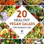 Lose weight with these 20 healthy vegan salad recipes for weight loss. They are easy to make and taste amazing.