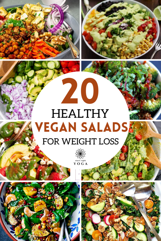 If you are looking for healthy vegan salads for weight loss then these 20 salad recipes are just what you need to help you keep losing the pounds.