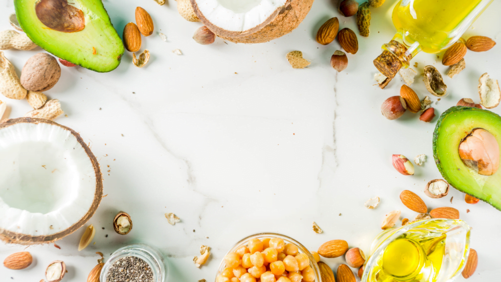 healthy vegan fats in salads