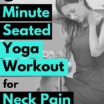 This yoga routine for neck pain can be done multiple times a day and takes a little as 5-minutes.
