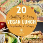These healthy plant-based vegan sandwiches and wraps are ideal for packed lunches and picnics.