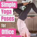 Ease lower back pain caused by your desk job with this quick 10 minute gentle yoga routine that you can do at home or at work.