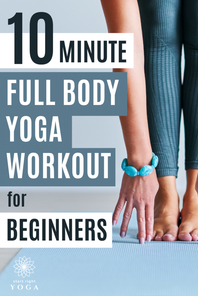 If you're looking for a beginner's yoga plan to get you started with yoga, then this 10-minute full body yoga workout for beginners is just what ou need. Take your time to practise yoga with the hatha yoga home workout.