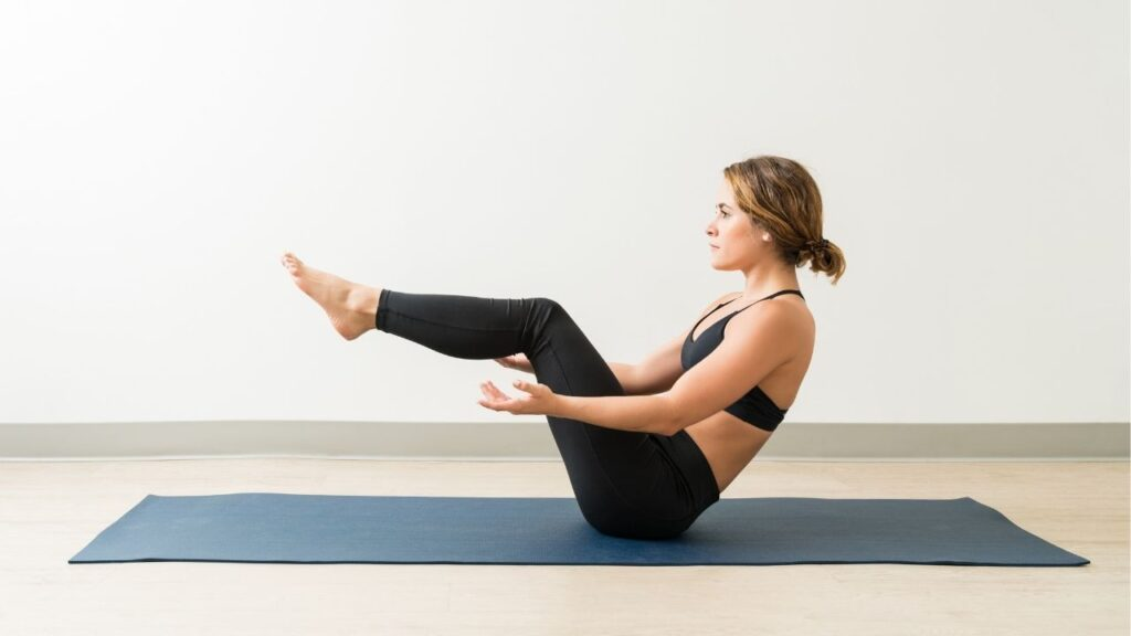 How to do boat pose yoga for beginners.